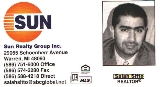 Sun Realty Group Business Card